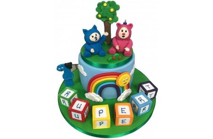 Baby TV Figures & Blocks Cake