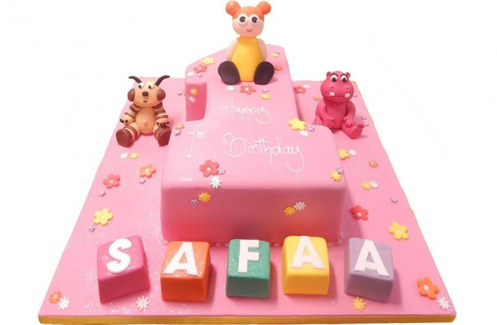 Baby TV Single Figure Cake