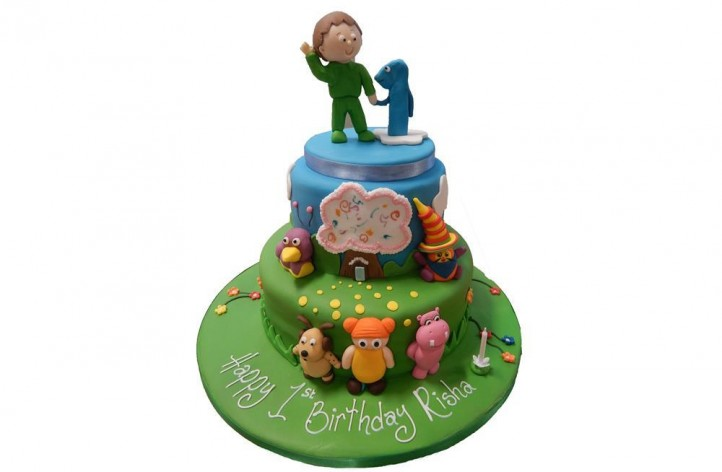 Baby TV Tiered Cake