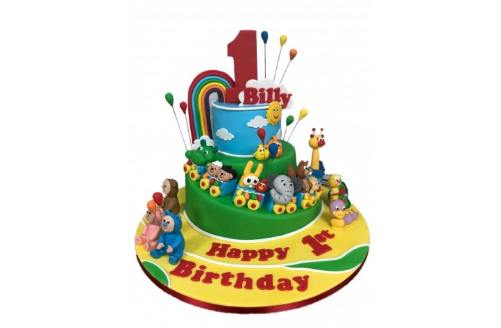 Baby TV Tiered Cake - High Detail