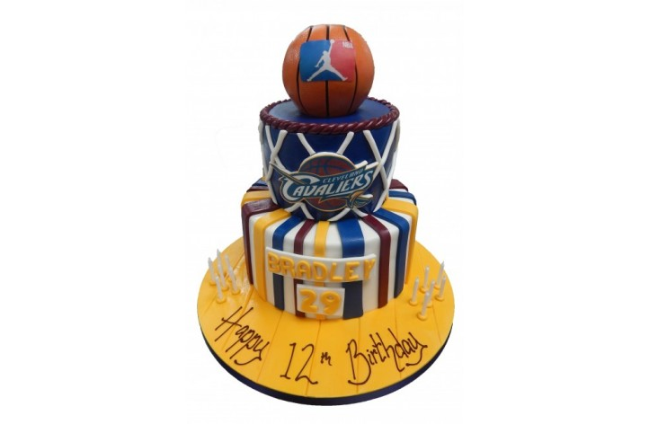 Basketball Tiered Cake