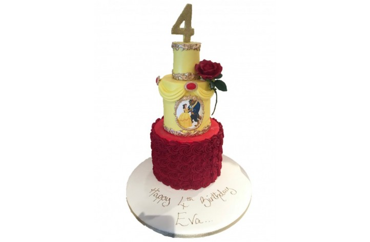 Beauty & the Beast Whirl Cake