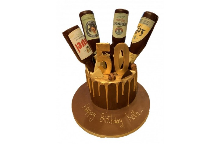 Beer Bottle Drip Cake