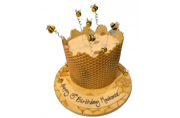 Bees & Honey Cake