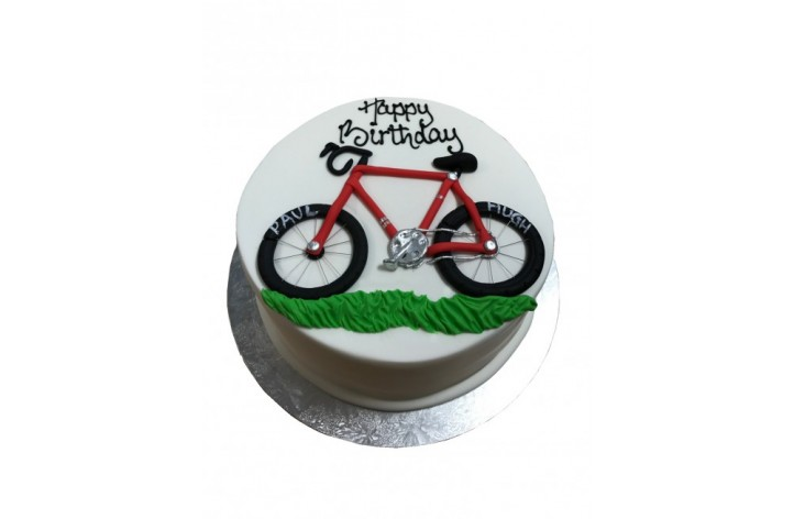 Simple Bicycle Cake