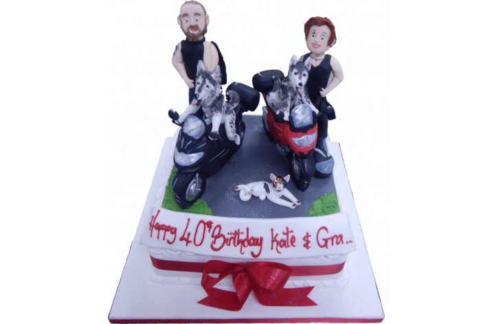 Bikers & Dogs Cake