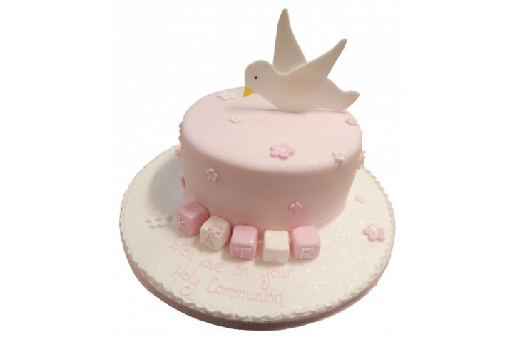 Holy Communion Bird & Blocks Cake