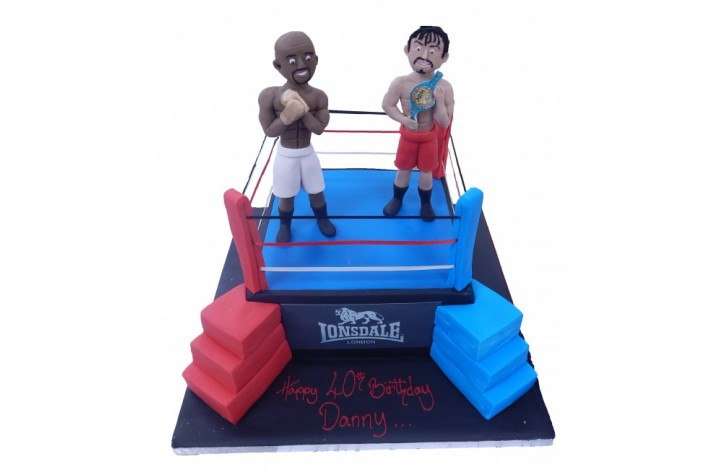 Boxing Ring with Figures