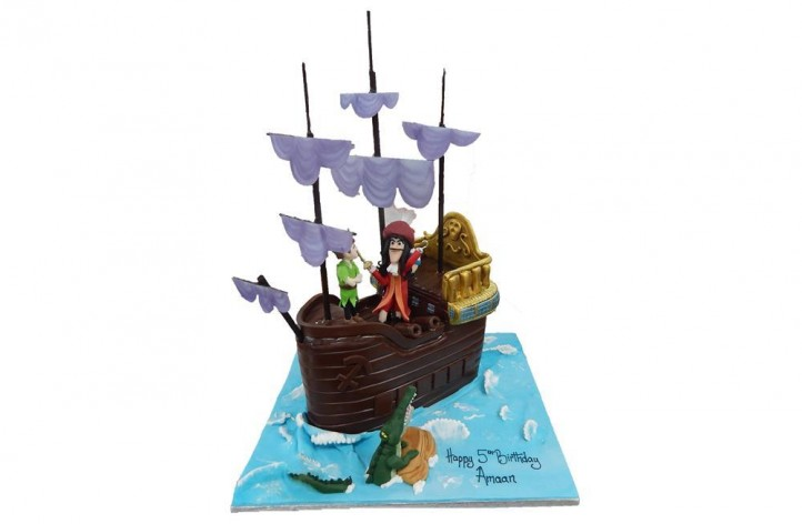 Captain Hook and Peter Pan Ship