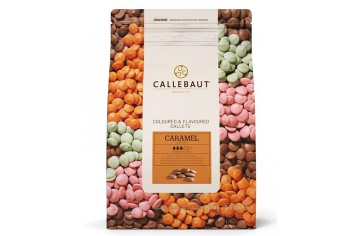 Barry Callebaut Caramel Chocolate Callets 2.5kg