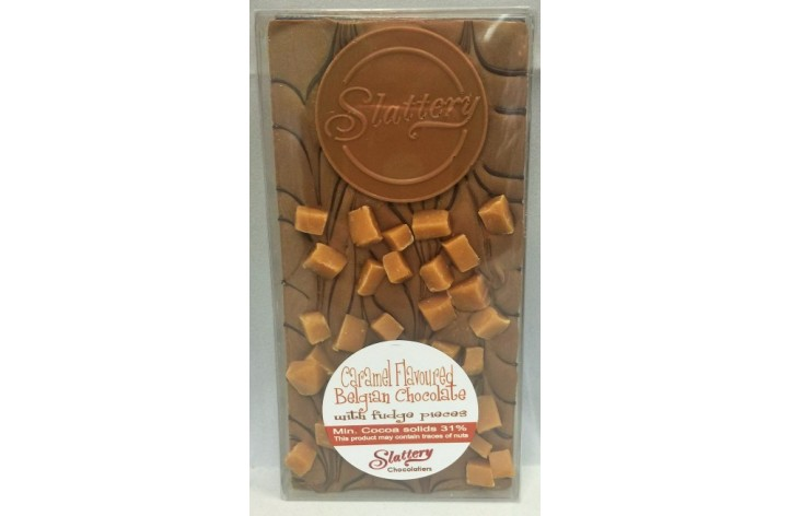 Small Caramel Chocolate Bar with Fudge
