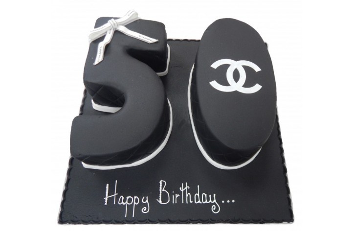 Chanel Double Figure Cake