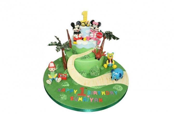Children's Characters Tiered Cake