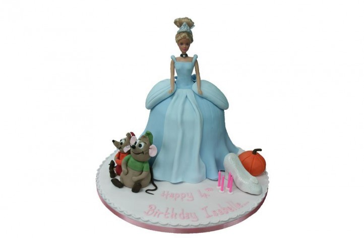 Cinderella Barbie Style with Figures