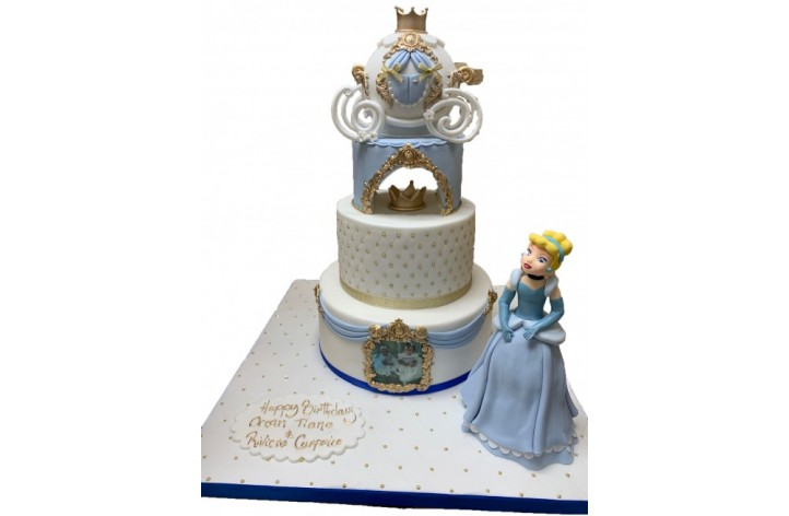 Cinderella Tiered Cake with Figure
