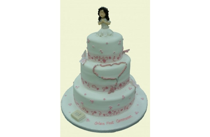 3 Tier Holy Communion Cake