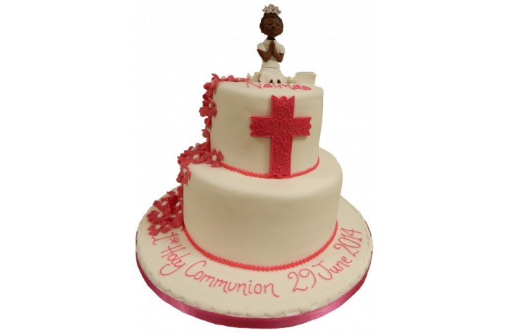 2 Tier Holy Communion Cake