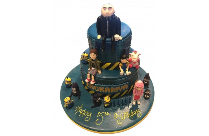 Despicable Me Tiered Figures Cake