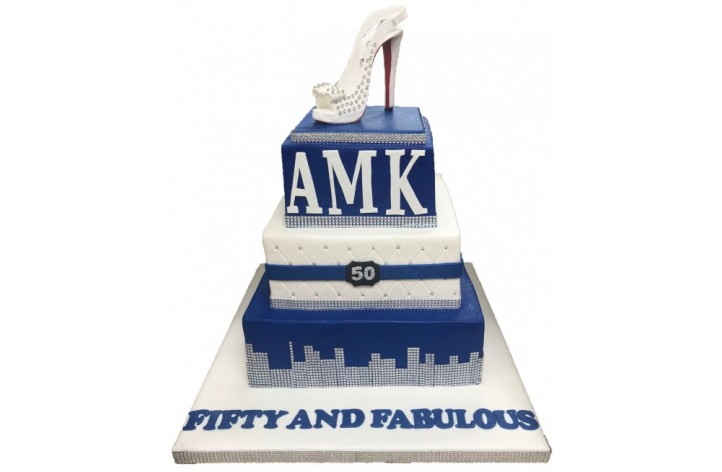 Diamante Skyline Tiered Cake
