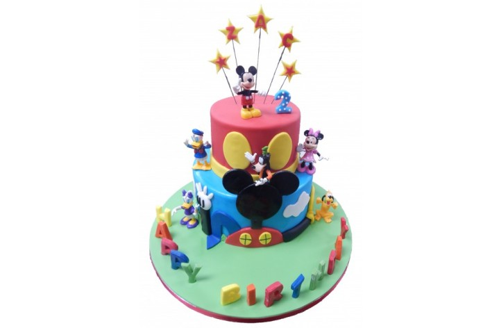 Disney Club House Tiered Cake