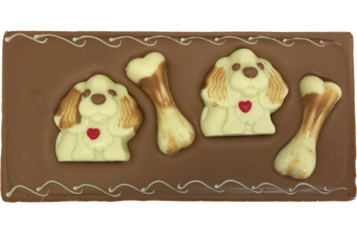 Large Chocolate Decorated Bars - Chocolate Dogs