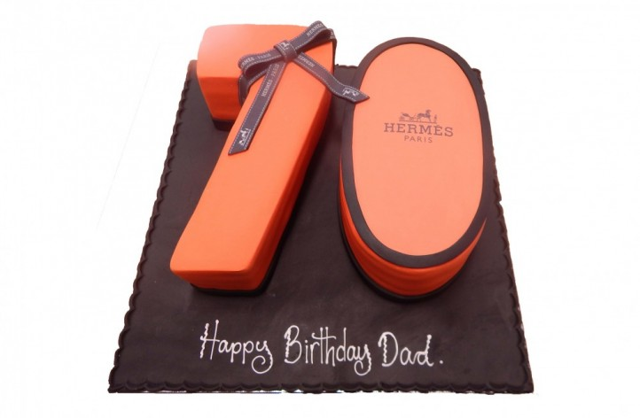 Double Figure Hermes Cake