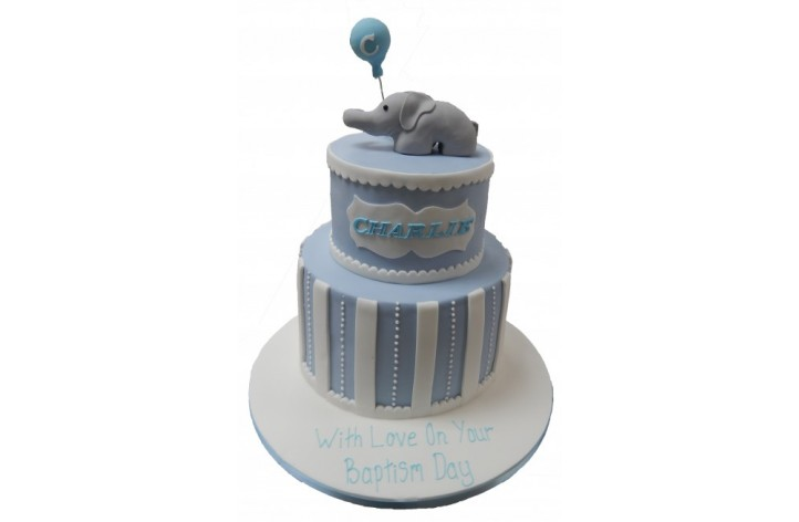 Elephant & Balloon Tiered Cake