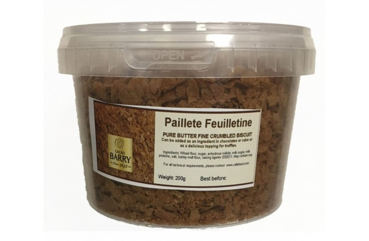 Feuilletine 200g (Pure butter finely crumbled biscuit)