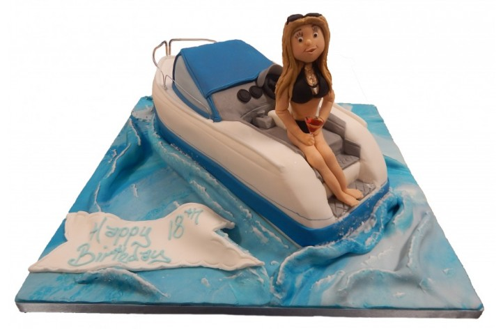 Figure on a Speed Boat