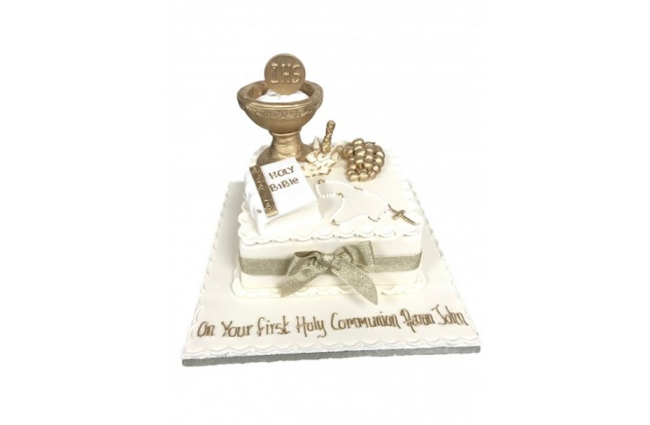 First Holy Communion Detailed Cake