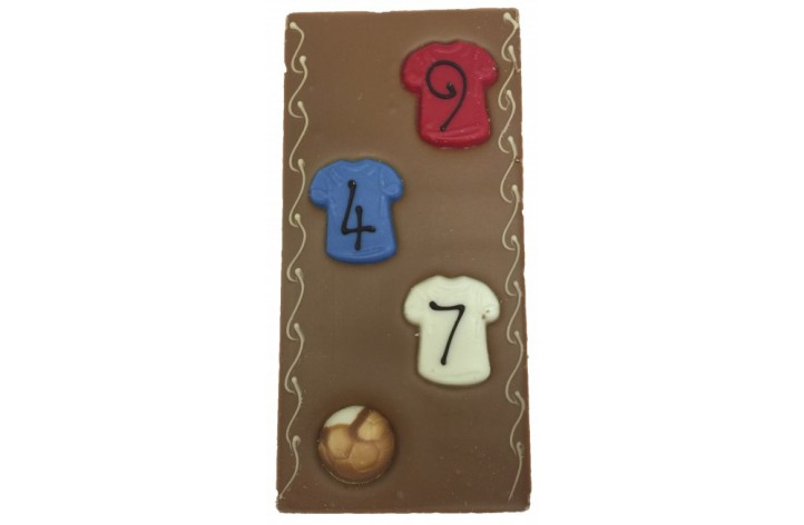 Large Chocolate Decorated Bar - Football Shirt