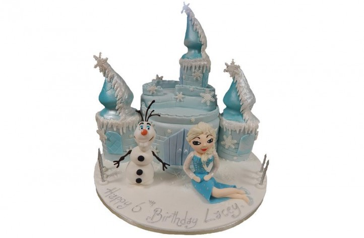 Frozen Castle, Elsa and Snowman
