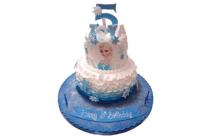 Frozen Tiered Ruffle Cake