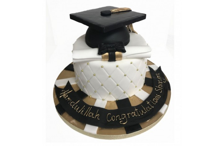 Graduation Cap with quilted design