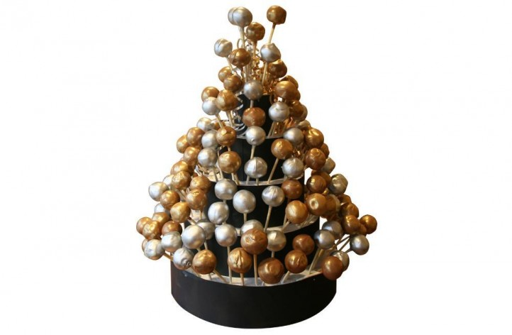 Gold & Silver Cake Pop Tower