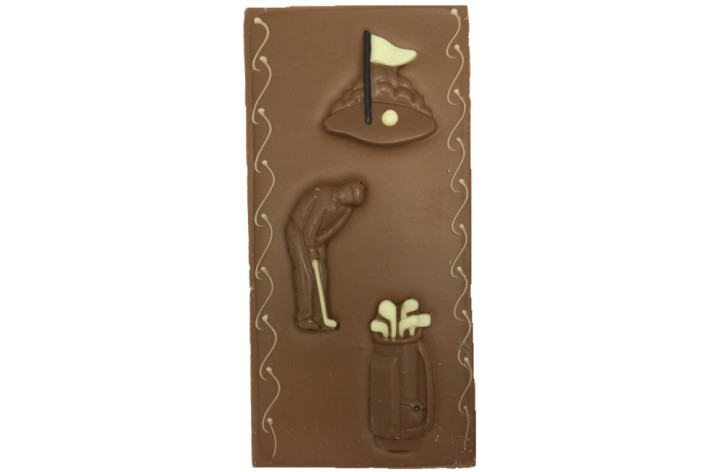 Large Chocolate Decorated Bar - Golf Items