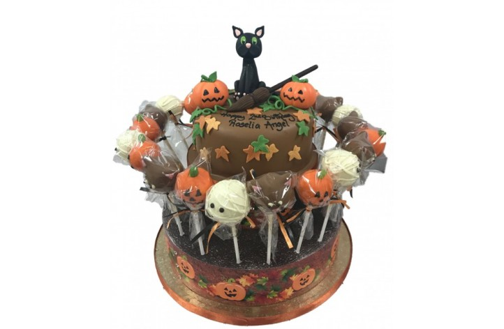 Halloween Chocolate Cake & Cake Pops