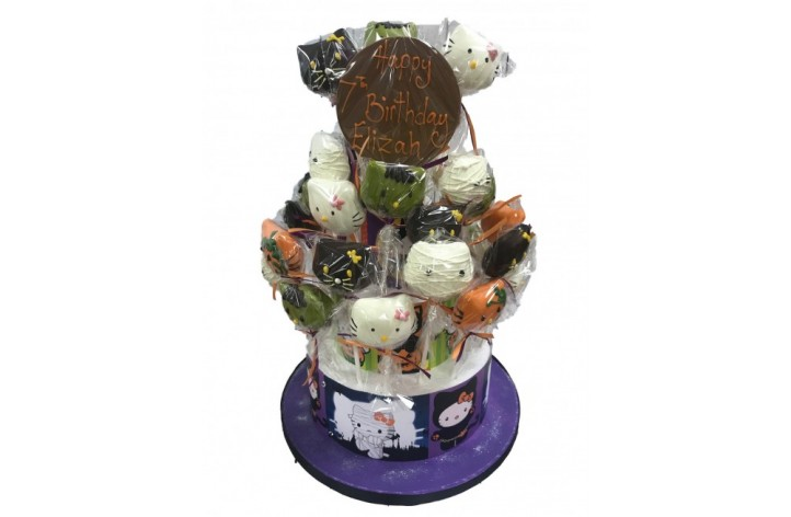 Hello Kitty Halloween Cake Pops