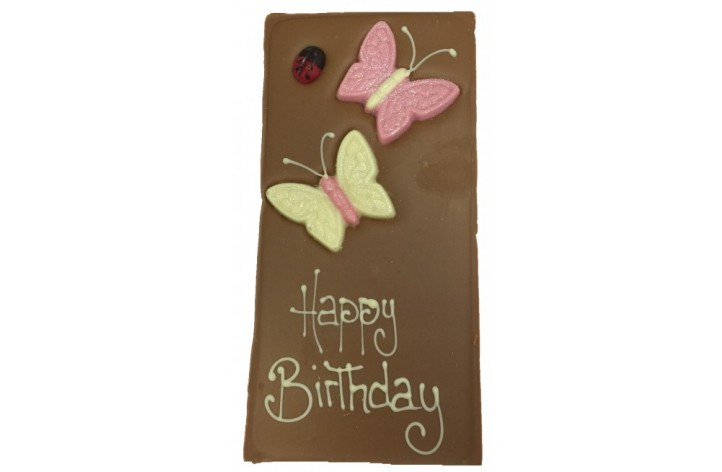Large Chocolate Bar - Butterflies