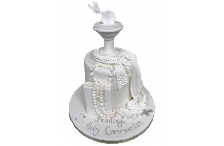 Holy Communion Bible & Rosary Beads