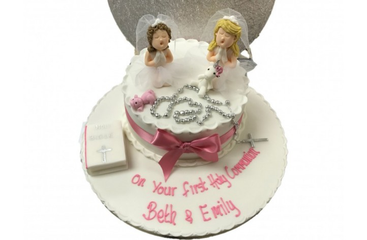 Holy Communion Cake with two Figures