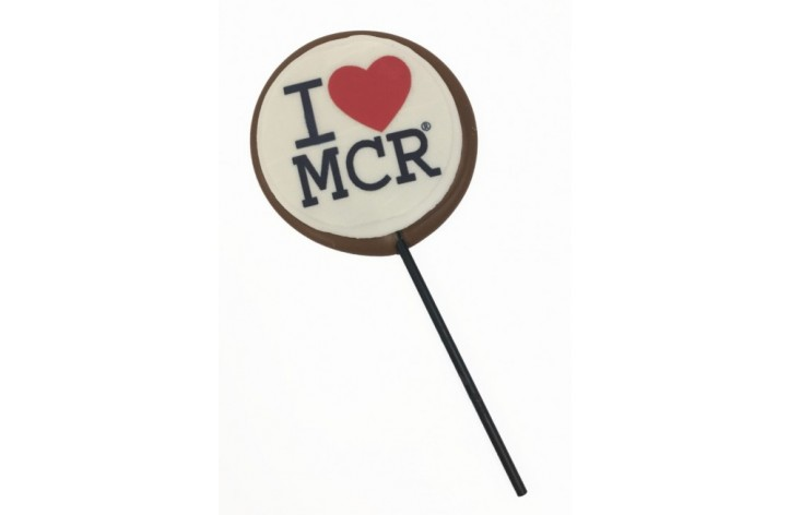 I Love Manchester Chocolate Lolly