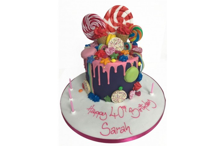 Ice Cream & Lollipop Cake