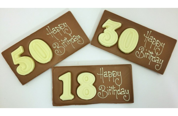 Large Chocolate Numbers Bar