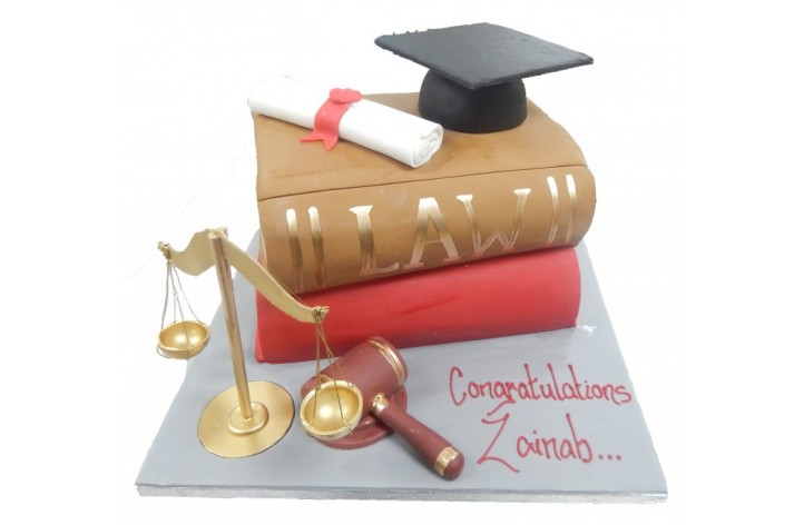 Law Graduate Books Cake