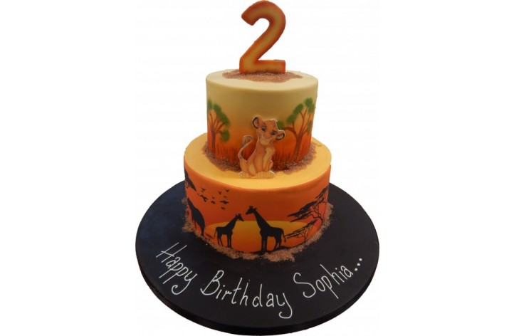 Lion King Tiered Cake