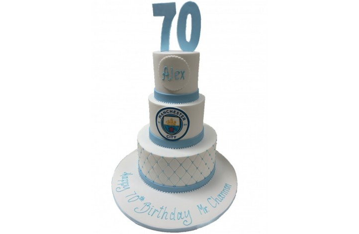 Manchester City Tiered Cake