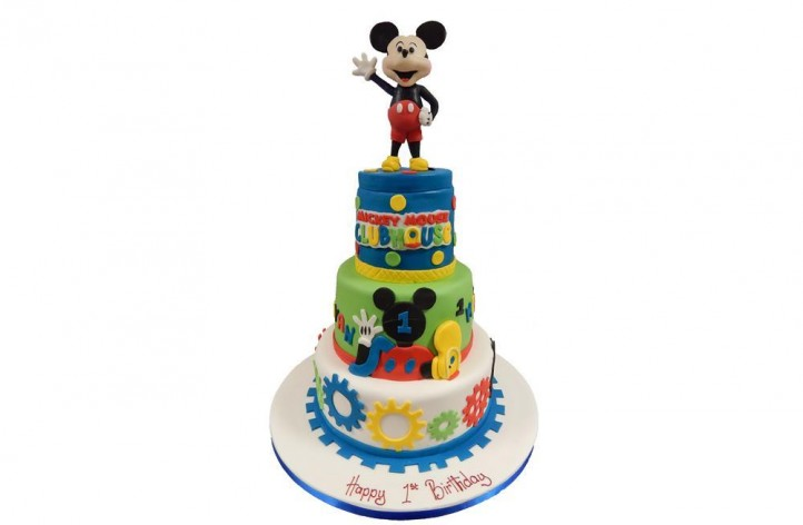 Mickey Club House Tiered Cake