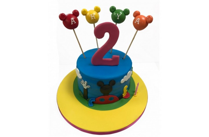 Mickey Clubhouse & Number Cake