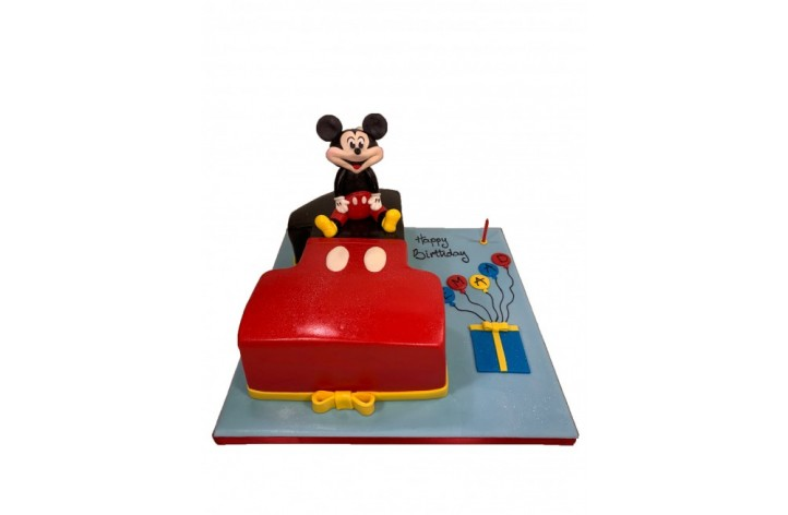 Mickey Number Cake